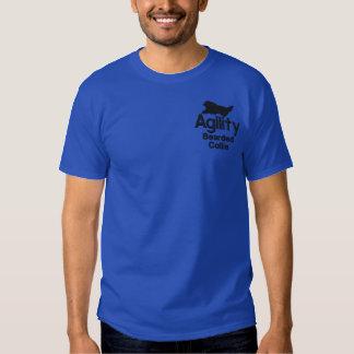 Agility-bärtiger Collie Besticktes T-Shirt