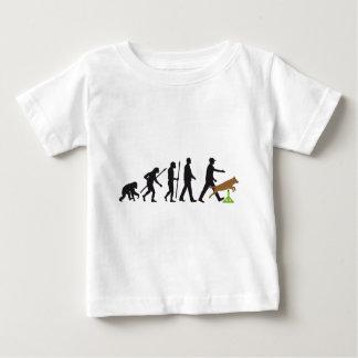 Agility dog sport evolution baby t-shirt