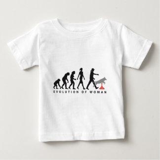 Agility dog sport evolution of woman baby t-shirt