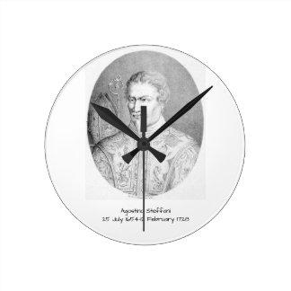 Agostino Steffani Runde Wanduhr