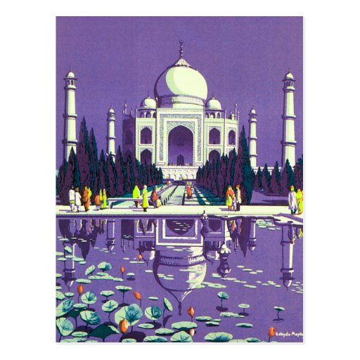 Agra ~ Taj Mahal Postkarte
