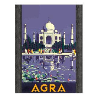 Agra, Vintag Postkarte