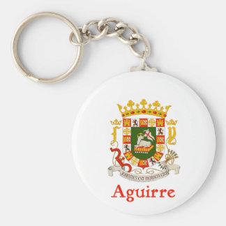 Aguirre Schild von Puerto Rico Schlüsselanhänger