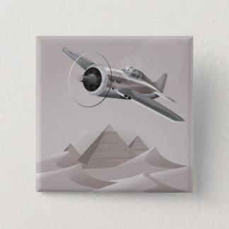 Ägypten-Abenteuer Quadratischer Button 5,1 Cm