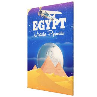 Ägypten - besuchen Sie das Vintage Reiseplakat der Leinwanddruck