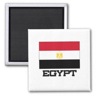 Ägypten-Flagge Quadratischer Magnet