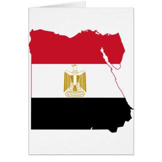 Ägypten-Flaggenkarte Z.B. Karte