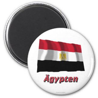 Ägypten Fliegende Flagge MIT deutschem Namen Runder Magnet 5,7 Cm