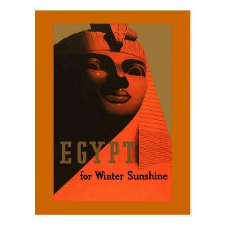 Ägypten für Winter-Sonnenschein Vintage Reise Postkarte