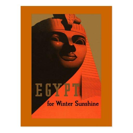 """""""Ägypten für Winter-Sonnenschein"""" Vintage Reise Postkarte"""