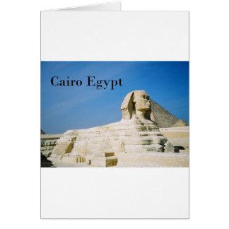 Ägypten Kairo Giseh Sphinx-2 (St.K) Karte