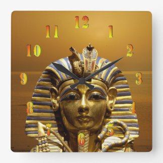 Ägypten-König Tut Quadratische Wanduhr