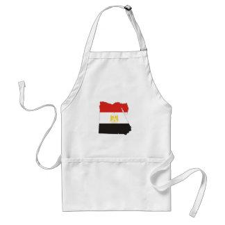 Ägypten-Landesflaggekarte Schürze