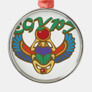 Ägypten Rundes Silberfarbenes Ornament