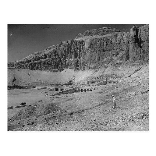 Ägypten. Tempel von Deir EL Bahre circa 1936 Postkarte