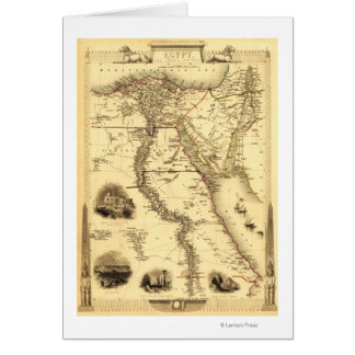 Ägypten und ArabiaPanoramic MapEgypt Grußkarte