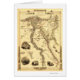 Ägypten und ArabiaPanoramic MapEgypt Grußkarten