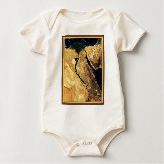 Ägypten vom Weltraum Baby Strampler