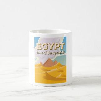 Ägypten - Zuhause des Pyramidereise-Plakatdruckes Kaffeetasse