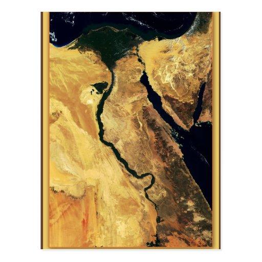 Ägyptens der Nil vom Weltraum Postkarten