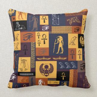 Ägyptische Collage Kissen