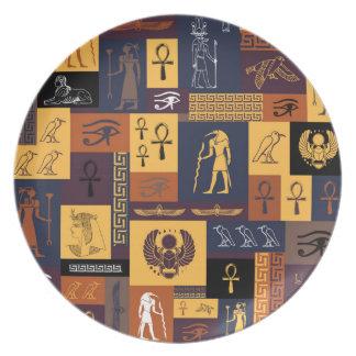 Ägyptische Collage Teller