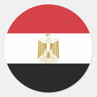 ÄGYPTISCHE FLAGGE RUNDER AUFKLEBER
