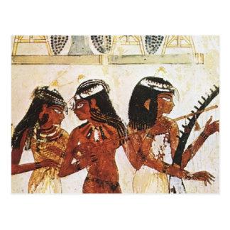Ägyptische Frauen-Musiker Postkarte