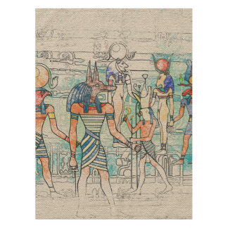 Ägyptische Götter auf Leinwand Tischdecke