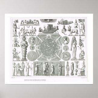 Ägyptische Götter und religiöse Symbole Poster