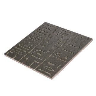 Ägyptische Hieroglyphen-altes Keramikfliese