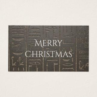 U0026#196;gyptische Hieroglyphen Altes Visitenkarte