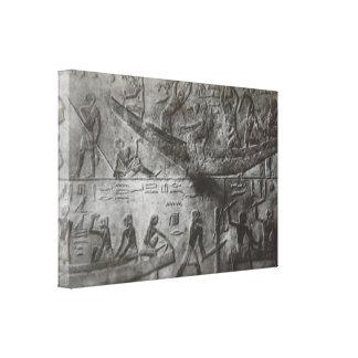 Ägyptische Hieroglyphen Leinwanddruck