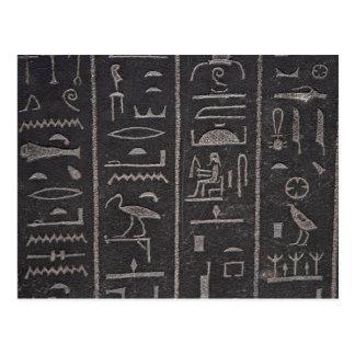 Ägyptische Hieroglyphen-Postkarte Postkarte