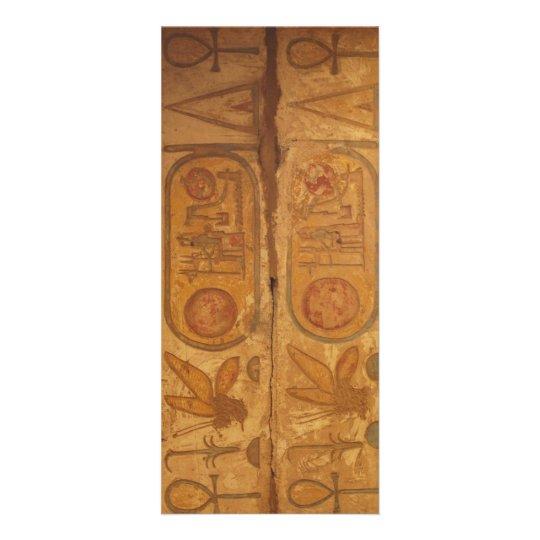 gyptische hieroglyphen schrift werbekarte zazzle. Black Bedroom Furniture Sets. Home Design Ideas