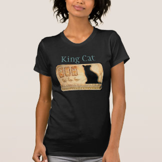 Ägyptische Katzecartouche-T-Stück König-Cat T-Shirt