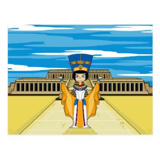 Ägyptische Königin Nefertiti bei Hatshepsut Postkarte