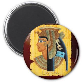 "Ägyptische Kunst-Magneten ""Kleopatra"" Runder Magnet 5,1 Cm"