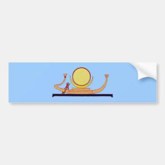 Ägyptische Mondbarke egypt moon rowing boat skiff Autoaufkleber