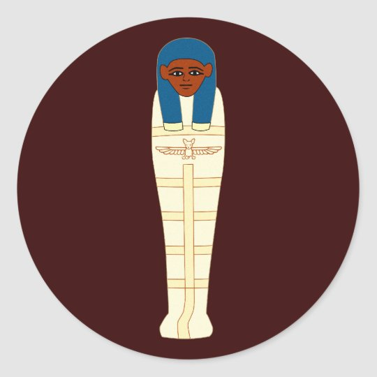 Ägyptische Mumie egypt mummy Runder Aufkleber