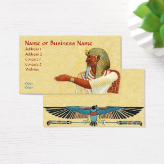 Ägyptische Pharao-Altertums-Geschäfts-Visitenkarte Visitenkarte