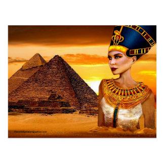 Ägyptische Postkarte der Königin-Nefertiti,