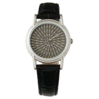 Ägyptische Prinzessin Abstract Spiral Pattern, Armbanduhr