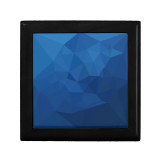 Ägyptischer blauer abstrakter niedriger schmuckschachtel