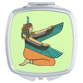 Ägyptischer Göttin-Quadrat-Spiegel Schminkspiegel