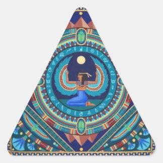 Ägyptischer GöttinIsis Dreieckiger Aufkleber