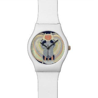 Ägyptischer Scarabäus-Entwurf Armbanduhr
