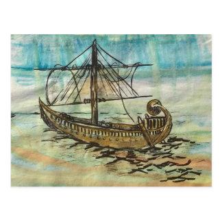 Ägyptischer SchiffBarque der Sun-Kunst-Postkarte Postkarte