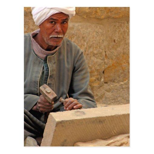 Ägyptischer Steinmetz (2) Postkarte