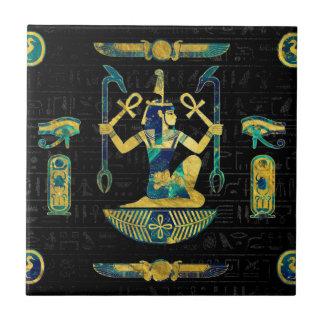 Ägyptisches Gold und blaue Marmorverzierung Fliese